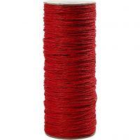 Papiergarn, Dicke 1,8 mm, Rot, 470 m/ 1 Rolle, 250 g