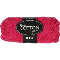 Merzerisierte Baumwolle, Nr. 6S/4, L: 165 m, Pink, 50 g/ 1 Knäuel