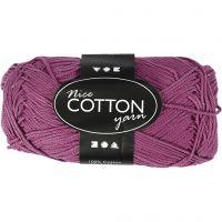 Merzerisierte Baumwolle, Nr. 6S/4, L: 165 m, Violett, 50 g/ 1 Knäuel