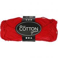 Merzerisierte Baumwolle, Nr. 6S/4, L: 165 m, Rot, 50 g/ 1 Knäuel