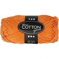 Merzerisierte Baumwolle, Nr. 6S/4, L: 165 m, Orange, 50 g/ 1 Knäuel