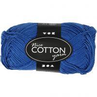 Merzerisierte Baumwolle, Nr. 6S/4, L: 165 m, Kobaltblau, 50 g/ 1 Knäuel