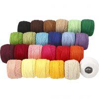 Baumwolle, mercerisiert, Sortierte Farben, 24x20 g/ 1 Pck