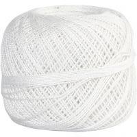 Baumwolle, mercerisiert, Weiß, 20 g/ 1 Knäuel
