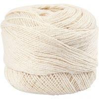 Baumwolle, mercerisiert, Naturweiß, 20 g/ 1 Knäuel