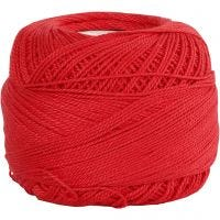 Baumwolle, mercerisiert, Rot, 20 g/ 1 Knäuel