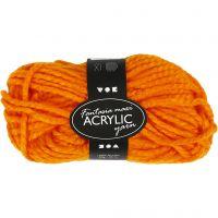 Fantasia Polyacryl-Wolle, L: 35 m, Größe maxi , Neonorange, 50 g/ 1 Knäuel