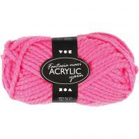 Fantasia Polyacryl-Wolle, L: 35 m, Größe maxi , Neonpink, 50 g/ 1 Knäuel