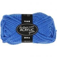 Fantasia Polyacryl-Wolle, L: 35 m, Größe maxi , Blau, 50 g/ 1 Knäuel