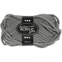 Fantasia Polyacryl-Wolle, L: 35 m, Größe maxi , Grau, 50 g/ 1 Knäuel