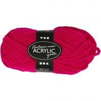 Fantasia Polyacryl-Wolle, L: 35 m, Größe maxi , Fuchsia, 50 g/ 1 Knäuel