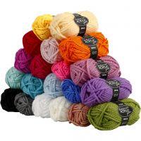 Fantasia Polyacryl-Wolle, L: 35 m, Größe maxi , Sortierte Farben, 20x50 g/ 1 Pck