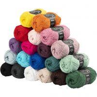 Baumwolle, Nr. 8/4, L: 170 m, Inhalt kann variieren , Sortierte Farben, 20x50 g/ 1 Pck