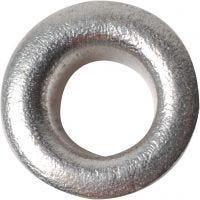 Ösen, H: 3 mm, D: 8 mm, Lochgröße 4,8 mm, Silber, 50 Stk/ 1 Pck
