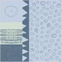 Stoff, B: 145 cm, 140 g, Blau, 1 lfm