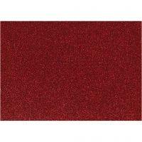 Bügelfolie - Sortiment, 148x210 mm, Glitter, Rot, 1 Bl.