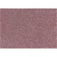 Bügelfolie - Sortiment, 148x210 mm, Glitter, Rosa, 1 Bl.