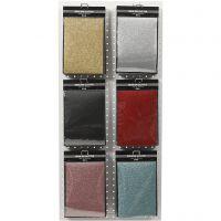 Bügelfolie, 148x210 mm, Glitter, Sortierte Farben, 6x10 Bl./ 1 Pck