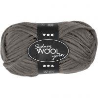 Sydney Wolle, L: 50 m, Grau, 50 g/ 1 Knäuel