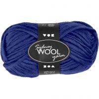 Sydney Wolle, L: 50 m, Blau, 50 g/ 1 Knäuel