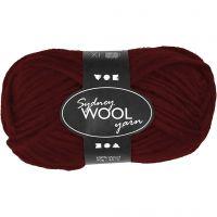 Sydney Wolle, L: 50 m, Weinrot, 50 g/ 1 Knäuel