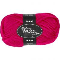 Sydney Wolle, L: 50 m, Pink, 50 g/ 1 Knäuel