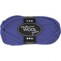 Melbourne Wolle, L: 92 m, Blau, 50 g/ 1 Knäuel