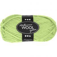 Melbourne Wolle, L: 92 m, Neongrün, 50 g/ 1 Knäuel