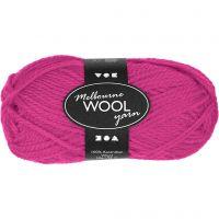 Melbourne Wolle, L: 92 m, Neonpink, 50 g/ 1 Knäuel