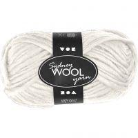 Sydney Wolle, L: 50 m, Naturweiß, 50 g/ 1 Knäuel