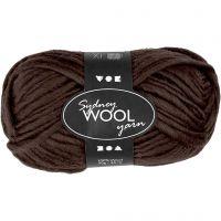 Sydney Wolle, L: 50 m, Braun, 50 g/ 1 Knäuel
