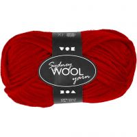 Sydney Wolle, L: 50 m, Rot, 50 g/ 1 Knäuel