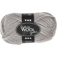 Sydney Wolle, L: 50 m, Hellgrau, 50 g/ 1 Knäuel