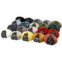 Wolle, L: 125 m, Sortierte Farben, 20x100 g/ 1 Pck