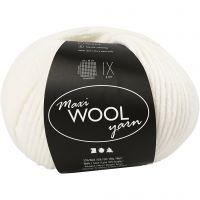 Wolle, L: 125 m, Naturweiß, 100 g/ 1 Knäuel