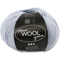 Wolle, L: 125 m, Staubblau, 100 g/ 1 Knäuel