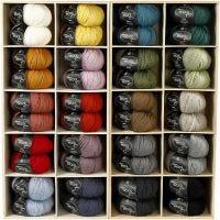 Wolle, L: 125 m, Sortierte Farben, 20x10 Knäuel/ 1 Pck
