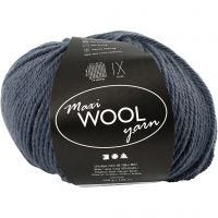 Wolle, L: 125 m, Blau, 100 g/ 1 Knäuel