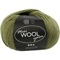 Wolle, L: 125 m, Olivgrün, 100 g/ 1 Knäuel