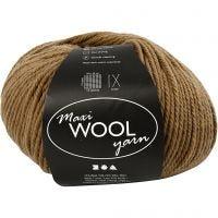 Wolle, L: 125 m, Hellbraun, 100 g/ 1 Knäuel