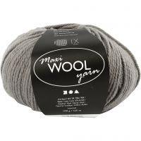 Wolle, L: 125 m, Grau, 100 g/ 1 Knäuel