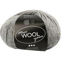 Wolle, L: 125 m, Grau Melange, 100 g/ 1 Knäuel