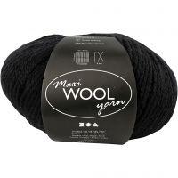 Wolle, L: 125 m, Schwarz, 100 g/ 1 Knäuel