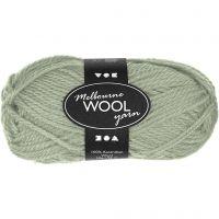 Melbourne Wolle, L: 92 m, Hellgrün, 50 g/ 1 Knäuel