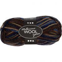Melbourne Wolle, L: 92 m, Brauntöne, 50 g/ 1 Knäuel
