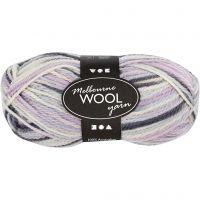 Melbourne Wolle, L: 92 m, Pastelllila, 50 g/ 1 Knäuel
