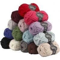 Sydney Wolle, L: 50 m, Inhalt kann variieren , Sortierte Farben, 15x50 g/ 1 Pck