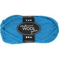 Melbourne Wolle, L: 92 m, Hellblau, 50 g/ 1 Knäuel
