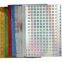 Hologramm-Papier, A4, 210x297 mm, 120 g, 8 Bl. sort./ 1 Pck