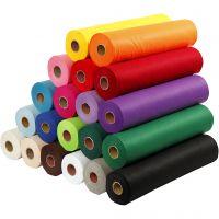 Bastelfilz, B: 45 cm, Dicke 1,5 mm, 180-200 g, Sortierte Farben, 20x5 m/ 1 Pck